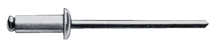 Blindklinknagel staal/staal 4x10mm dxl v.4,5-6,5mm GESIPA Vlakronde kop