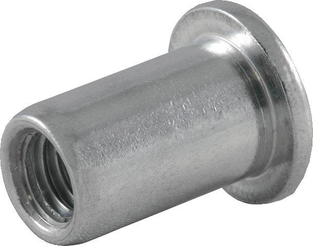 Blindklinkmoer AFM M6-sch. DxL9,0x14,5mm alu. kl.geb. 0,5-3,0mm brgt.D9,1mm