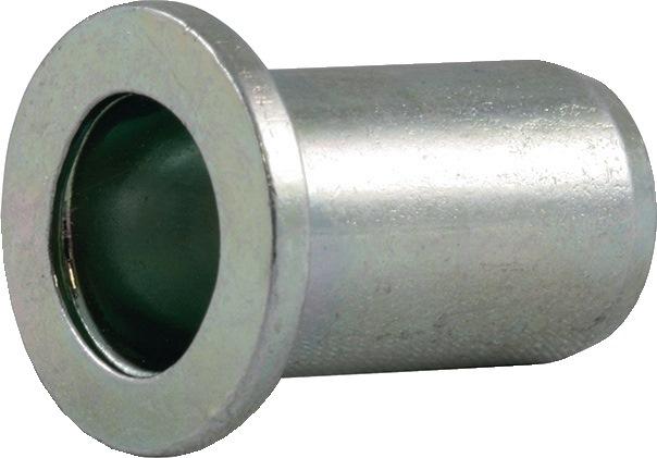 Blindklinkmoer SFM M6-sch. DxL9,0x14,5mm st. kl.geb. 0,5-3,0mm brgt.D9,1mm