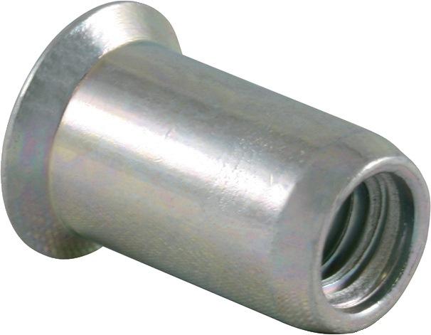 Blindklinkmoer SSM M8-sch. DxL11,0x18,5mm st. kl.geb. 1,5-4,5mm brgt.D11,1mm