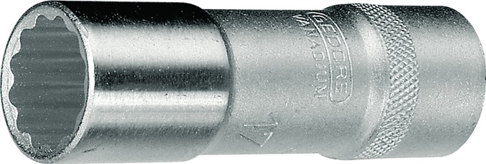 Steeksl.bit D19 DIN3124 ISO2725-1 1/2 inch 12kt. SW30mm L82mm lng.uitv. Cr.V.st.