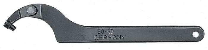 Sch.hksl. 776C m.sch.m.nok v.mr.60-90mm spc.st.gbrn.d.tmp.gh. L280mm m.ohgt. AMF