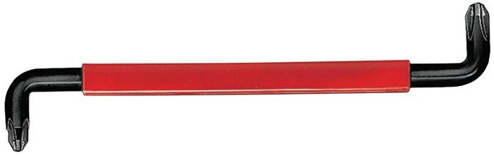 Schroefsleutels PH SW3-4 L200mm greep rood v.werken op krappe plekken WIHA