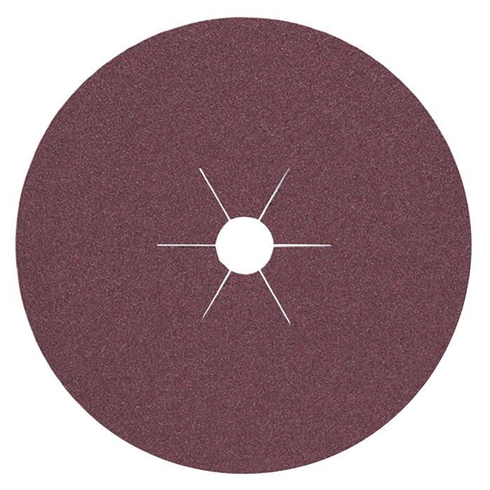 Vulkaanvezelslijpschijf korr.80 d.115mm v.metaalindustrie boring 22,3mm PROMAT
