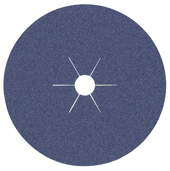 Fiberschuurschijf korr.60 gevulkaniseerde fiber d.180mm v.rvs-staal bor.22,23mm