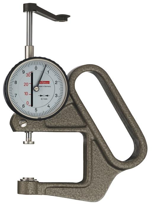 Diktemeter K50/3D 30mm aflezing 0,1mm halfrond 10 = d Käfer