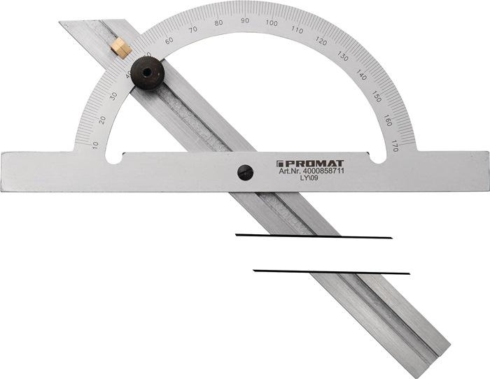 Hoekmeter Gradenboog-D.200mm railsl.400mm PROMAT