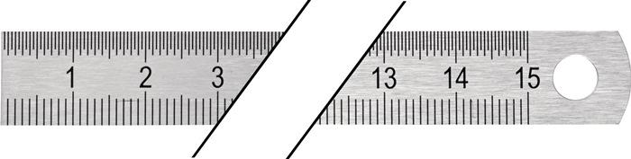 Stalen lineaal l.500mm buigbaar Verdeling B=mm/1/2mm PROMAT