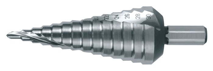 Getrapte boren 4-12mm HSS spiraalgegroefd 2 snijvlakken PROMAT