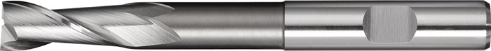 Spiebaanfrezen Type N D.8mm HSS-Co8 2 sneden lang PROMAT