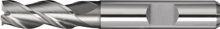 Schachtfrees DIN844 type W d.12mm HSS-Co8 3 sneden kort PROMAT