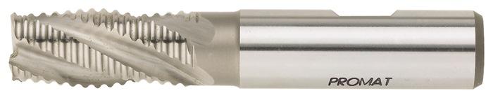 Schachtfrees DIN844 type NR d.6mm HSS-Co5 4 sneden kort PROMAT