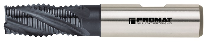 Schachtfrees DIN844 type NR d.6mm HSS-Co5 TiCN 4 sneden kort PROMAT