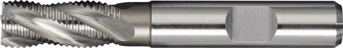 Schachtfrees DIN844 type HR d.12mm HSS-Co5 4 sneden kort PROMAT
