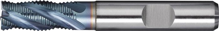 Schachtfrees DIN844 type HR d.8mm HSS-Co5 TiCN 4 sneden kort PROMAT