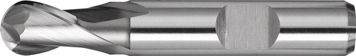 Kogelkopfrees d.18mm HSS-Co8 2 sneden extra kort PROMAT