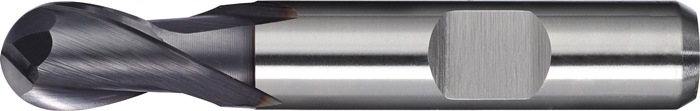 Kogelkopfrees d.14mm HSS-Co8 TiCN 2 sneden extra kort PROMAT