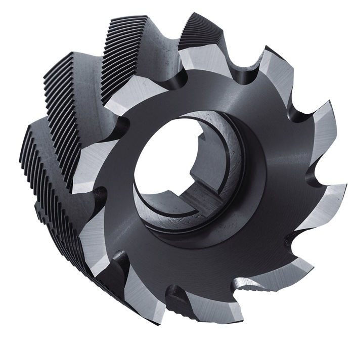 Mantelkopfrezen DIN1880 type HR D.80 mm HSS-Co5 TiCN 10 snijvlakken PROMAT