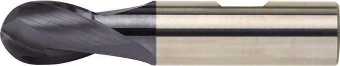 Kogelkopfrees d.14mm VHM TiAIN 2 sneden kort PROMAT