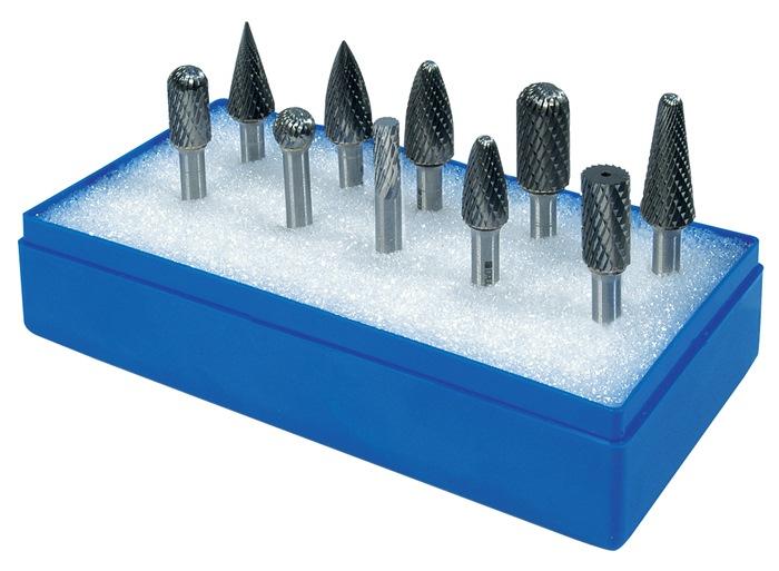 Stiftfreesset schacht-d.6mm 10-dlg. Kruislingse vertanding PROMAT
