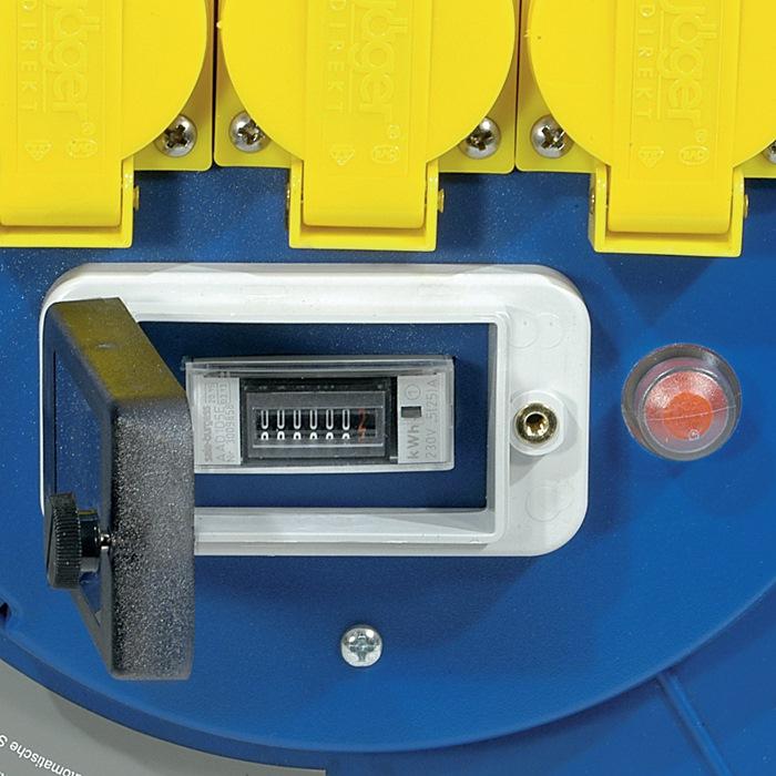 kabelhaspel ku. L.40m H07RN-F 3x1,5 m.aardleksch.H07RN-F m.therm.beveilig