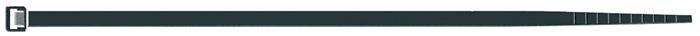 Kabelbinder l. 280mm b. 3,5mm bun.d. 80mm zwart PA m.binnenvert. 100 st./zk