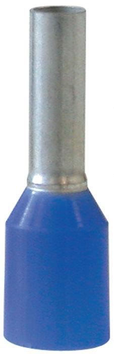 Adereindhuls AWG14 L1/14mm lang 2/8mm D. 2,5mm2 blauw m.knststfkraag 100 st/zak