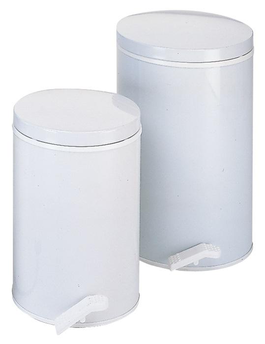 Pedaalemmer 25l staalplaat wit binnenemmer verz. H.500xd.310mm WESCO