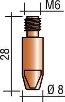 Str.kp. sch.d.D.M6 drD.1,2mm L28mm M6 dr-d.1,2mm L28mm E-Cu v.ERGOP.25/26/36/240