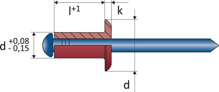 Bli.ng.DIN EN ISO14589 nglh.DxL3x10mm alu/st. kl.geb. 5,0-7,5mm brgt.D3,1mm