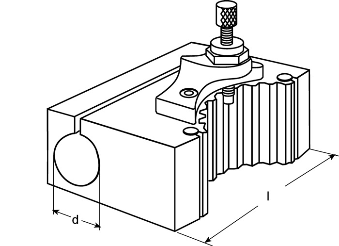 Wisselhouder v.beitelhouder B m.cilindrische boring d.40mm PROMAT