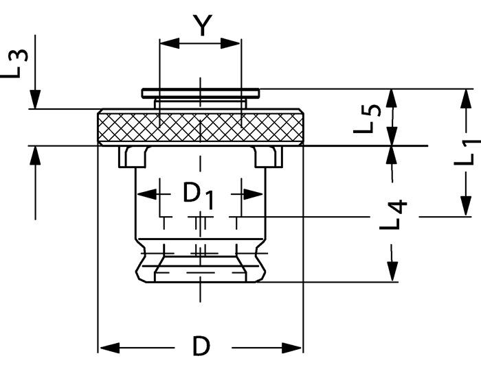 Snelwissel-inzetstuk SE mt.3 zonder veiligheidskoppeling v.d.18x14,5mm