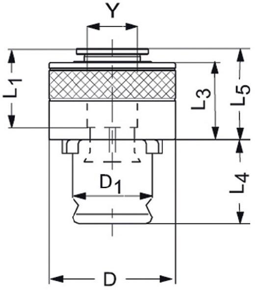 Snelwissel-inzetstuk SES mt.1 m.veiligheidskoppeling v.d.3,5x2,7mm