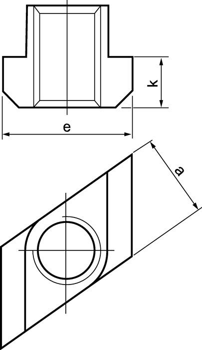 T-klemblok nr.510 M16x18 rombisch AMF