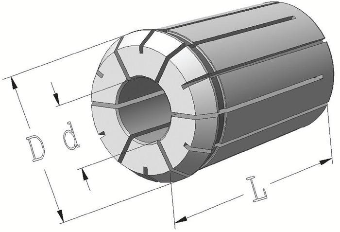 Spantang 462E/OZ25 d.9mm d.35,05mm L.52mm PROMAT