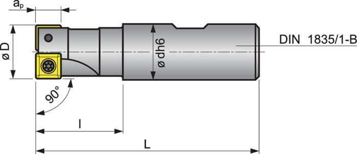 Schachtfrees 20A2R032B20-SSO09-C vernikkeld m.IK PROMAT
