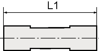 Rechte stkverb. red. blauwe ser. sl.buit.-d. 8/6 mm L1 34,5 mm 1 st