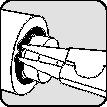 Borgringtang DIN 5254 A L.570mm d.252,0-400,0mm zwart m.poedercoatg v.buitenring