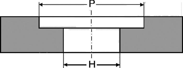 slijpsch NK korr.36NK grof keram. geb. vorm A recht v.Fe/st./gietst m.uitsp.