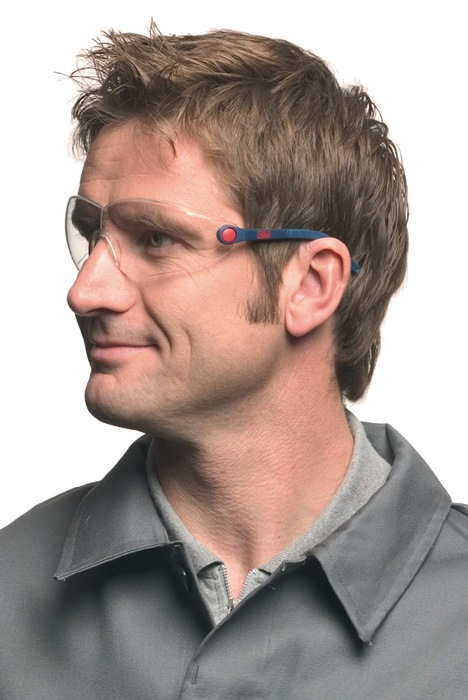 veilbr beugel blauw/rood PC helder AS AF UV Instelbare pooteinden+-hoek