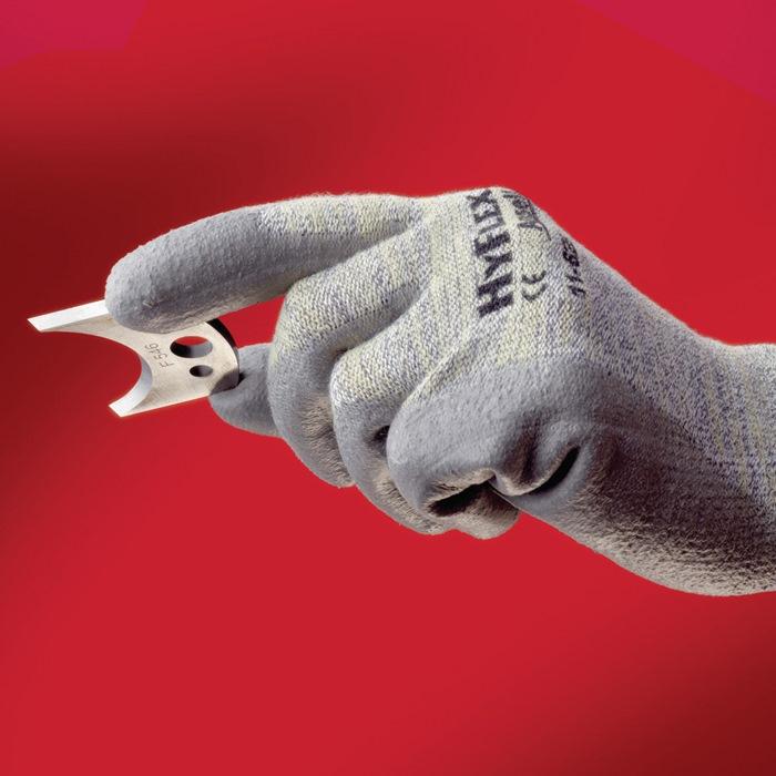 Handschoen EN388 cat.II HyFlex 11-630 mt.10 katoen lycra nylon Kevlar m.PU grijs