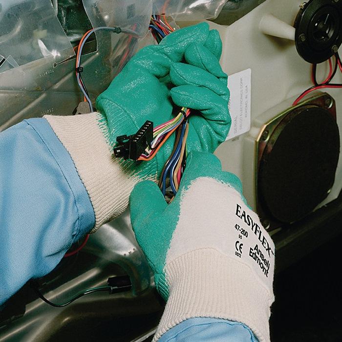 Handschoenen EN388 cat.II Easy Flex 47-200 mt.10 katoen met 3/4 nitril groen