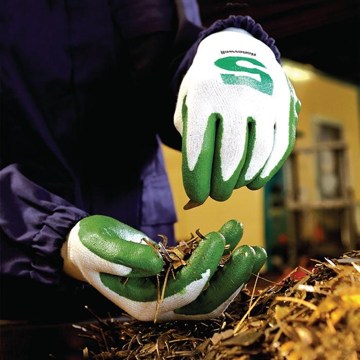 Snijbeschermingshandschoen Check & Go GREEN NIT 5 mt.10 groen/oranje Dyneema®