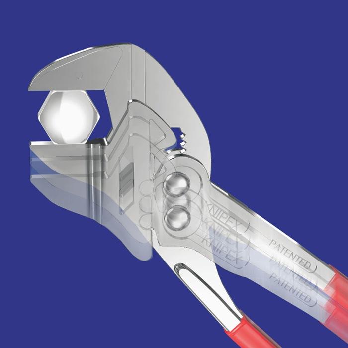 Sleuteltang DIN ISO 5743 L.150mm spanwijdte 27mm vernikkeld m.2-comp. hndgrn