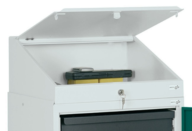 Lessenaar B.500xD.500mm v.gereedschapskast lichtgrijs STUMPF